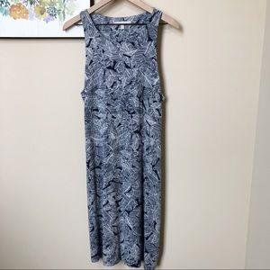 Athleta Santorini Leaf Print Dress Size Large
